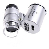 Microscopio Lupa Joyero Aumento 60x Con Luz Led Blanca Y Uv