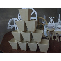 Macetas De Fibrofacil De 9 X 9 X 9 De Alto 10unidades
