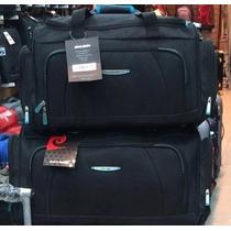 Bolso Viaje Reforzado Pierre Cardin Negro Azul Calidad