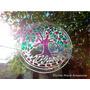 Arbol De La Vida Mandala Colgante Vidrio 15cm Chakras Yoga