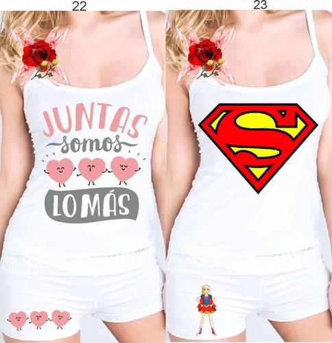 55dd7f4c7ac Pijama Conjunto Verano De Modal Mujer Personalizado+nombre -   500 ...