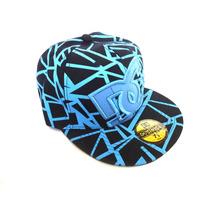 Gorra Plana Negra Y Azul Excelente Modelo Diseño Y Calidad