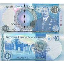 Billete Tonga 10 Paanga Año 2015 Sin Circular