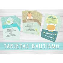 30 Tarjetas / Invitación Bautismo Cumpleaños Comunión