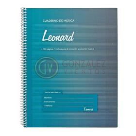Cuaderno Pentagramado Leonard A4 Espiralado De 50 Hojas
