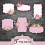 Kit Imprimible Frames Etiquetas Labels Banderines Diamante