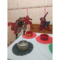 Centros De Mesa Super Héroes En Goma Eva Con Brillos