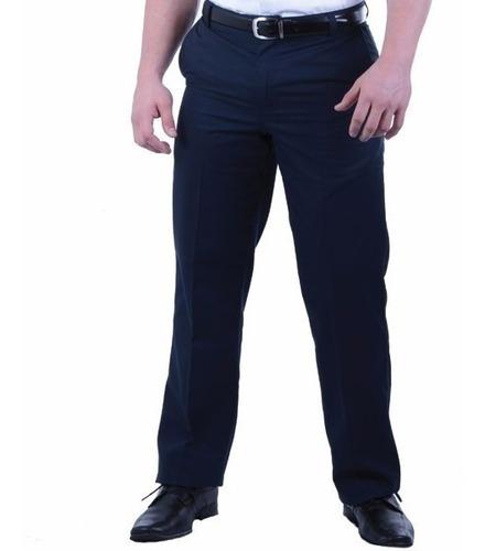 Pantalon Vestir Hombre Azul Sport Gabardina Oficina Envios