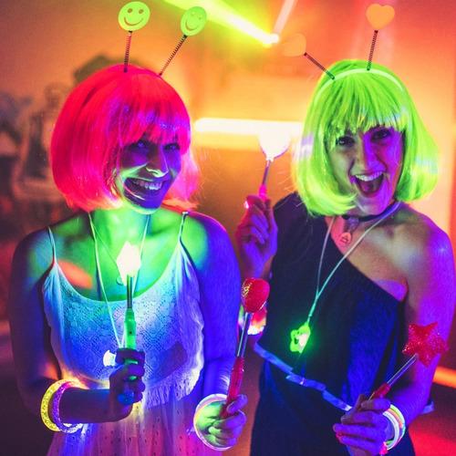 Top 500 Art. Combo Cotillon Luminoso Led Neon Fluo Carioca