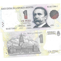 Billete 1 Peso Convertible Primer Diseño C Sin Circular