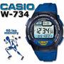 Reloj Casio W734 60 Laps Pila 10 Años Sumergible Local Centr