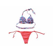Bikini Multicolor Estampada C/tasa Soft Le Nife 2018