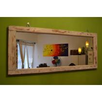 Precioso Espejo-ventana Rustico Para Colgar