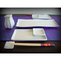 Plato Sushi. Juego De Sushi. Set Sushi. P/2 Personas. C/pali