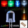 100 Leds 10mm Alto Brillo + 100 Resistencias - Elumiled