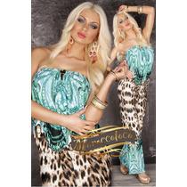 Enterito Mono Jumpsuit Palazzo Agua Animal Print Leopard