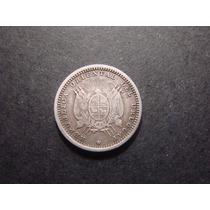 Moneda De Uruguay 10 Centimos 1893 Plata Mirala!