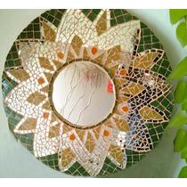 Circular Florsol Con Espejo- Arte En Venecitas- Redondo