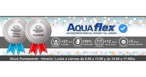 Flor Ducha Acero Cuadrada 20cm Mas Brazo 40cm 7091c Aquaflex