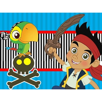 Kit Imprimible Jake Y Los Piratas + Candy Bar