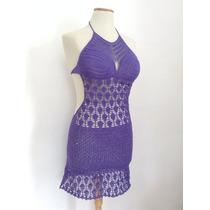 Vestido Sexy Tejido Al Crochet Ideal Playa Verano