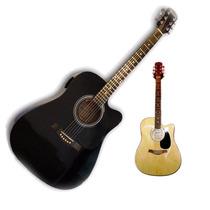 Guitarra Electro Acustica Funda Puas Con Tono Volumen Cable