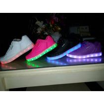 Zapatillas Led Recargarble 25 A 41....7 Colores D Luces