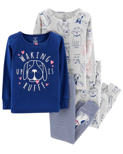 d94dee3d67 Carters Set 4 Piezas Conjunto Pijama Osito Perrito Nenas