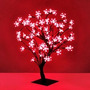 Arbol Navidad Luminoso Bonsai Luces Led Rojo Flor Del Cerezo