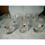 Juego De Vasos De Whisky Tallados Italiano Rcr Antiguo