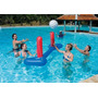 Set Red Voley Bestway 244cm X 64cm + Pelota Inflable Pileta