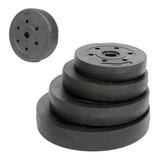Discos Pesas Mancuernas Barra 24mm No Raya 1 1.25 2.5 5 10kg