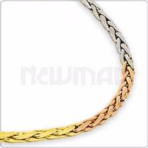 Cadena Soga Tricolor Oro 18 Kts 8 Grs 60 Cm Ca0017s -newmar