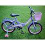 Bicicleta Rodado 16 Nena Con Canasto Y Guardabarros
