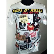 Increíble Remera Guns N´ Roses Live Era