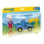 Educando Playmobil 123 Camión Con Grúa Dramatización 6791