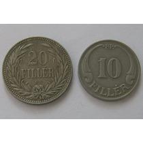 20 Filler 1893 Y 10 Filler 1927 De Hungria Excelente !