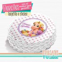 Rapunzel - Tarjetita Souvenir Flor Para Imprimir