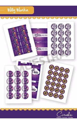 Willy Wonka Kit Etiquetas Golosinas Decoración Imprimibles