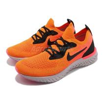 Zapatillas Nike Epic React Flyknit Negragris 35 A 37 Arg