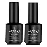 Esmalte Meline Base Coat + Top Coat Gel Uv/led
