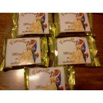Candy Bar Etiqueta Para Alfajores La Bella Y La Bestia