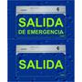 Cartel Salida De Emergencia, Matafuego,caja Y Baños Luminoso