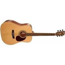 Guitarra Acustica Cort Earth Natural Tapa Solida Con Funda