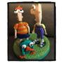 Phineas, Ferb Y Perry Adorno Porcelana Fría