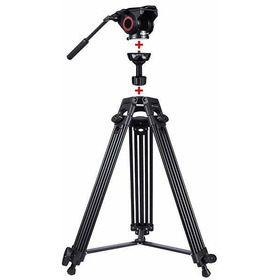 HUIFANGBU Four-Section Telescoping Aluminum-Magnesium Alloy Self-Standing Monopod with Support Base Bracket