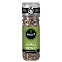 Mix de Ervas e Sal Rosa com Moedor All Purpose - 71g - Smart
