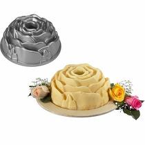 Molde Silicona Flor Rosa Torta Cheese Cake, Flan Reposteria