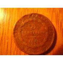 Moneda Italiana De 5 Centesimi Año 1826