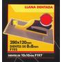 Llana Dentada 280x120mm Dientes 10x10mm Black Jack F197#